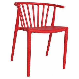 Dimehouse Nour Chaise De Jardin Rouge Moderne - Plastique