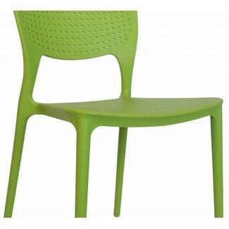 Dimehouse Nino Chaise De Jardin Vert Lime Moderne - Plastique