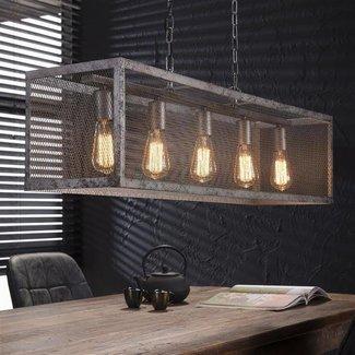 Dimehouse Nova Suspension Industrielle 5 Ampoules Métal
