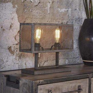 Dimehouse Brighton Lampe De Chevet Industrielle 2 Ampoules Métal