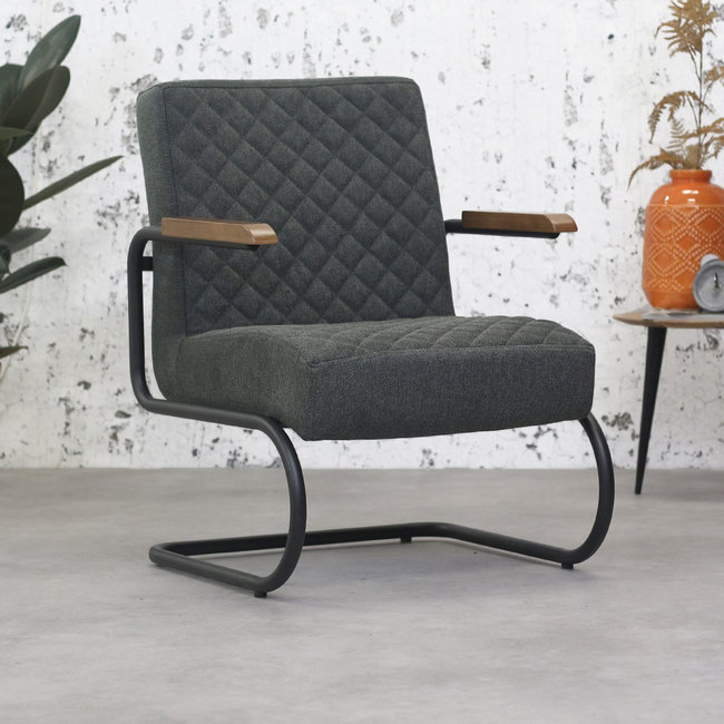 Dimehouse Mustang Fauteuil Industriel  - Anthracite