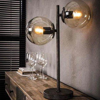 Dimehouse Bubble Lampe De Table Industriel  - Verre