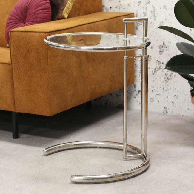 Dimehouse Taffy Table D'Appoint Ø51 cm Moderne - Chromé