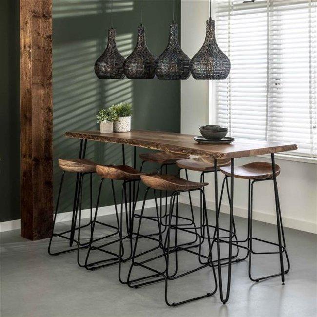 Dimehouse Elin Table De Bar Industrielle 180 cm