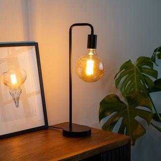 Dimehouse Cali Lampe De Table Noir Industriel - Métal