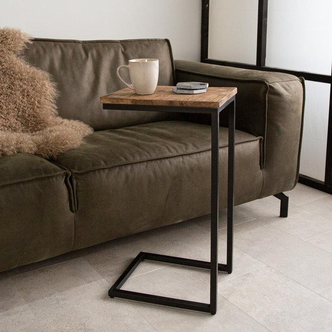 Dimehouse Bavaro Table PC Portable 69 x 31 x 38 cm Industrielle - Bois Massif