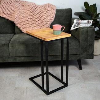 Dimehouse Sydney Table D'Ordinateur Portable Industriel - Bois de manguier