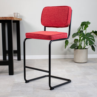 Dimehouse Remo Tabouret De Bar Industriel Rouge