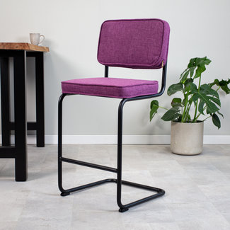 Dimehouse Remo Tabouret De Bar Industriel Violet