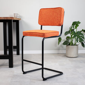 Dimehouse Remo Tabouret De Bar Industriel Orange