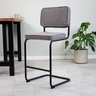 Dimehouse Remo Tabouret De Bar Industriel Gris
