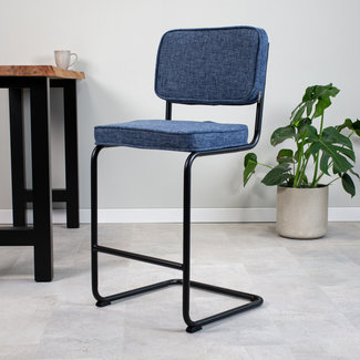 Dimehouse Remo Tabouret De Bar Industriel Bleu