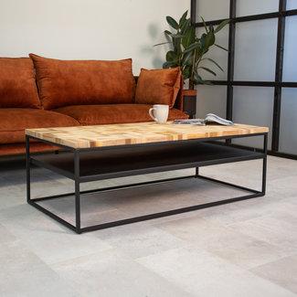 Dimehouse Ruby Table Basse Industrielle 120x160 cm Bois