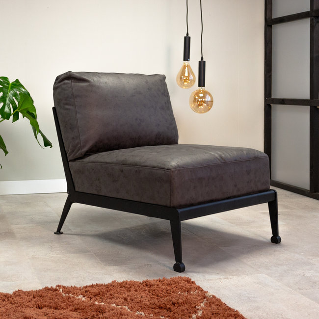 Dimehouse David Fauteuil Industriel Gris