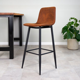 Dimehouse Jaxx Tabouret De Bar Industriel Marron