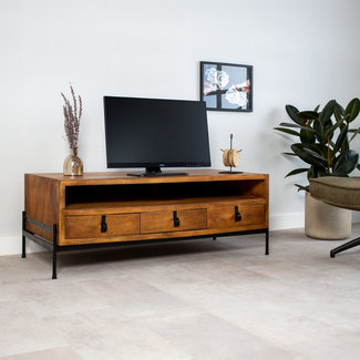Dimehouse Morgan Meuble TV industriel Bois 120x45 cm