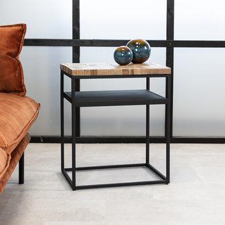 Dimehouse Ruby Table De Chevet Industrielle Bois 55 x 45 cm