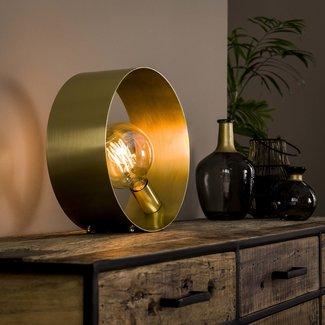 Dimehouse Golden Lampe De Chevet Industrielle Métal Doré