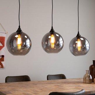 Dimehouse Fynn Suspension Industrielle Ronde 3 Lampes