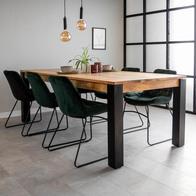 Dimehouse Kansas Table À Manger Industrielle 240x100 cm