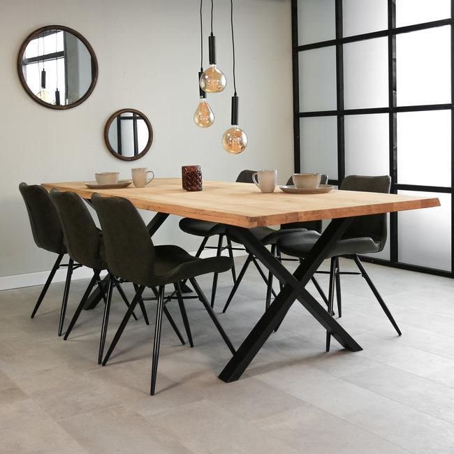 Dimehouse Devin Table À Manger Industrielle 280x100 cm Pieds-X