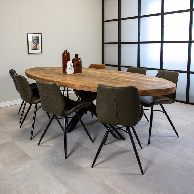 Dimehouse Detroit Table Salle A Manger Industrielle 260x120 cm