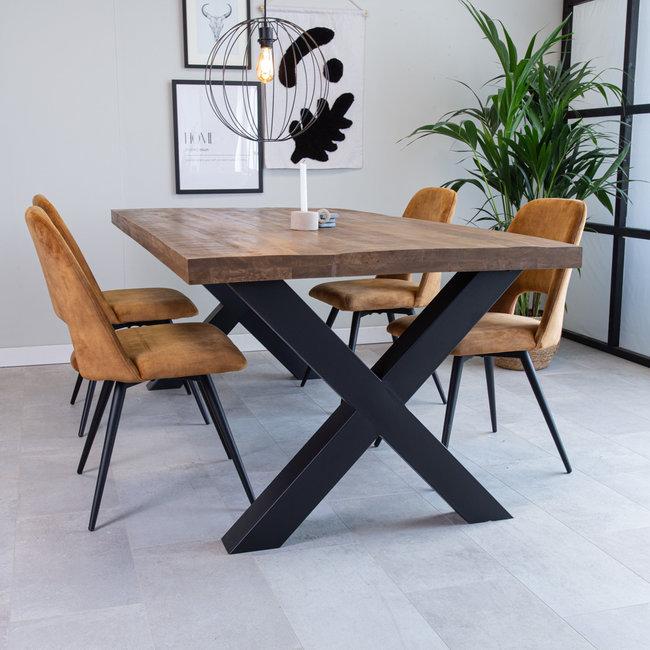 Dimehouse Newark Table À Manger Industrielle 220x100 cm