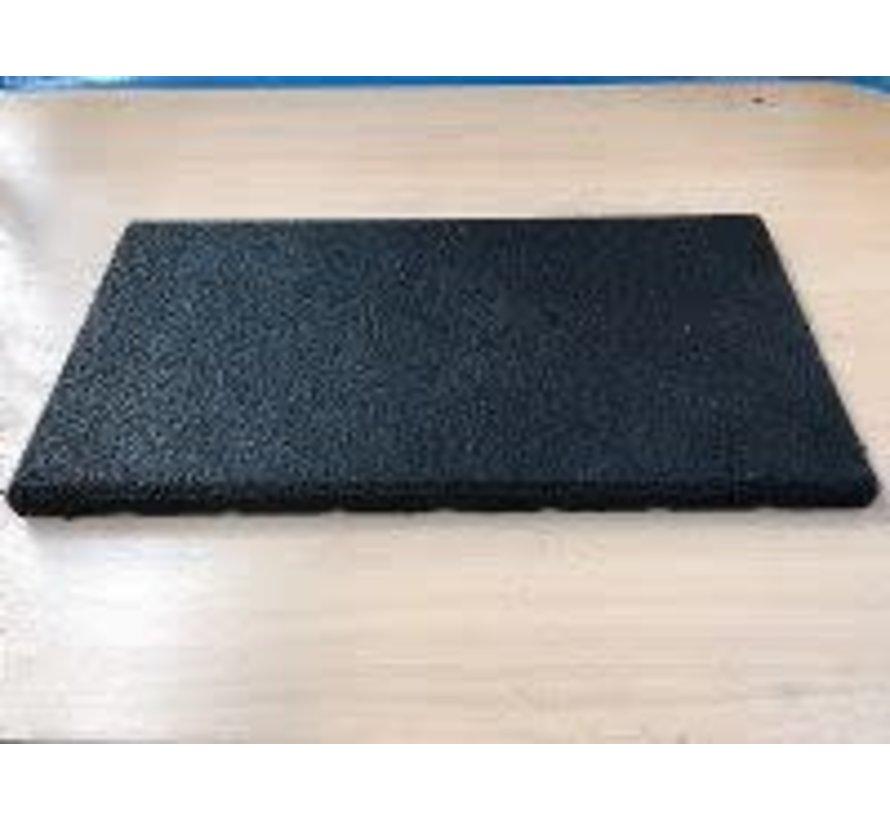 Rubber mat 50x25cm voor geluidsisolatie en demping