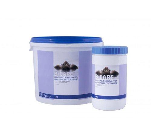 B-care 5kg chloor tabletten of tabs traag oplossende zwem