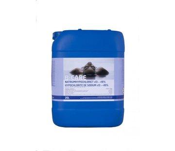 B-care Vloeibare chloor 13% 47/50 Natrium Hypochloriet - 20L