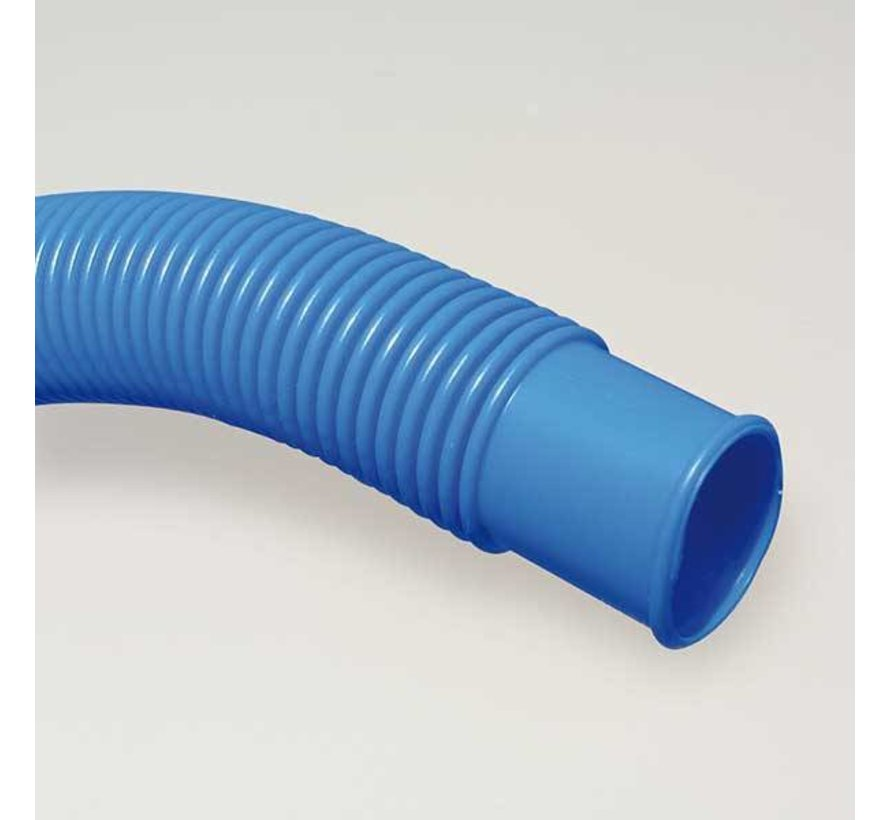 Mega Pool blauwe vacuum slang met dubbele mof 38 mm - om de 1,5mtr