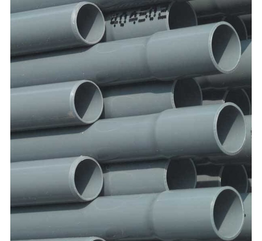 PVC drukbuis, 10 bar 50mm per meter