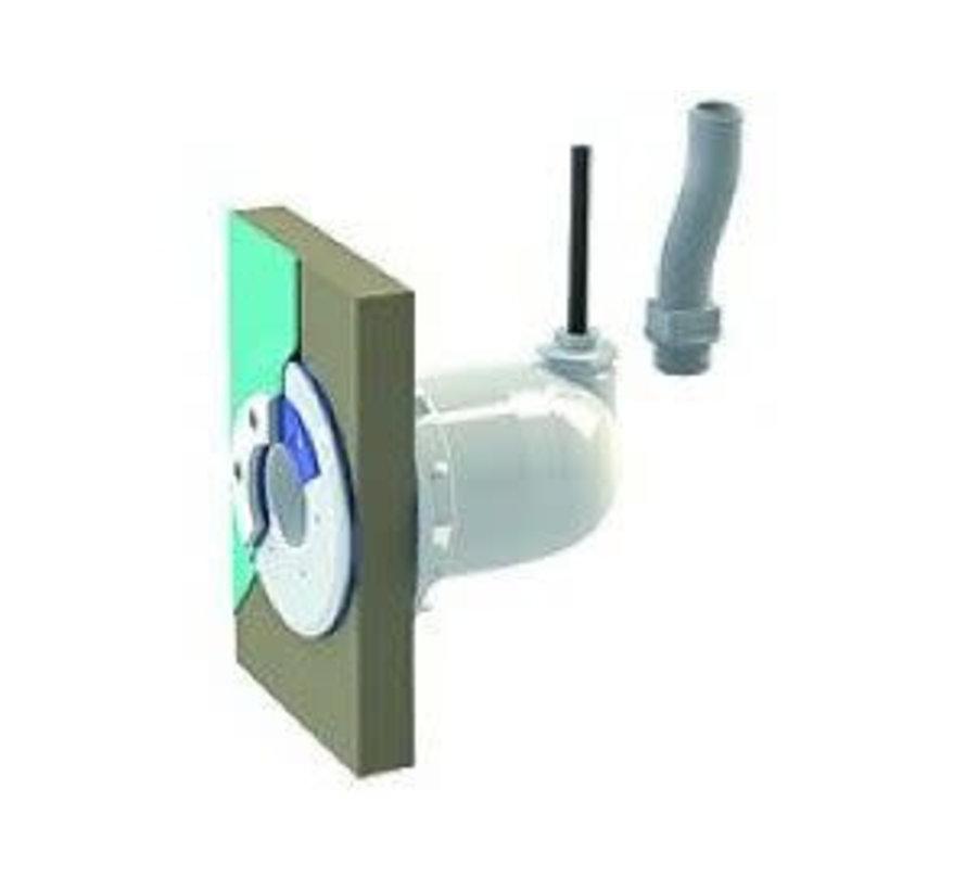 Spectravision Wanddoorvoer smalle wand 25mm flexibel of kabel