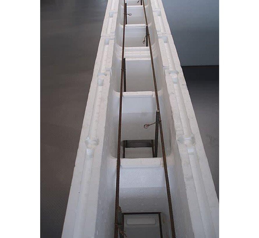Blokkit systeem 5 m x 10 m x 1,5 m