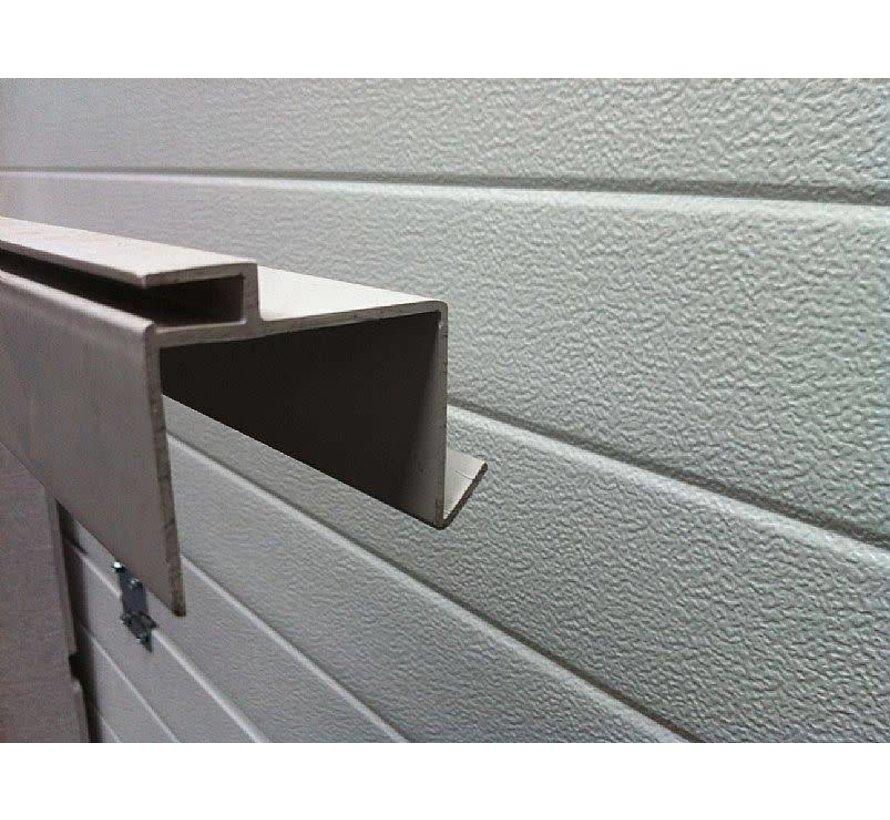 Liner 0,75 mm met hung profielen blokkit 3,5 X 7 M