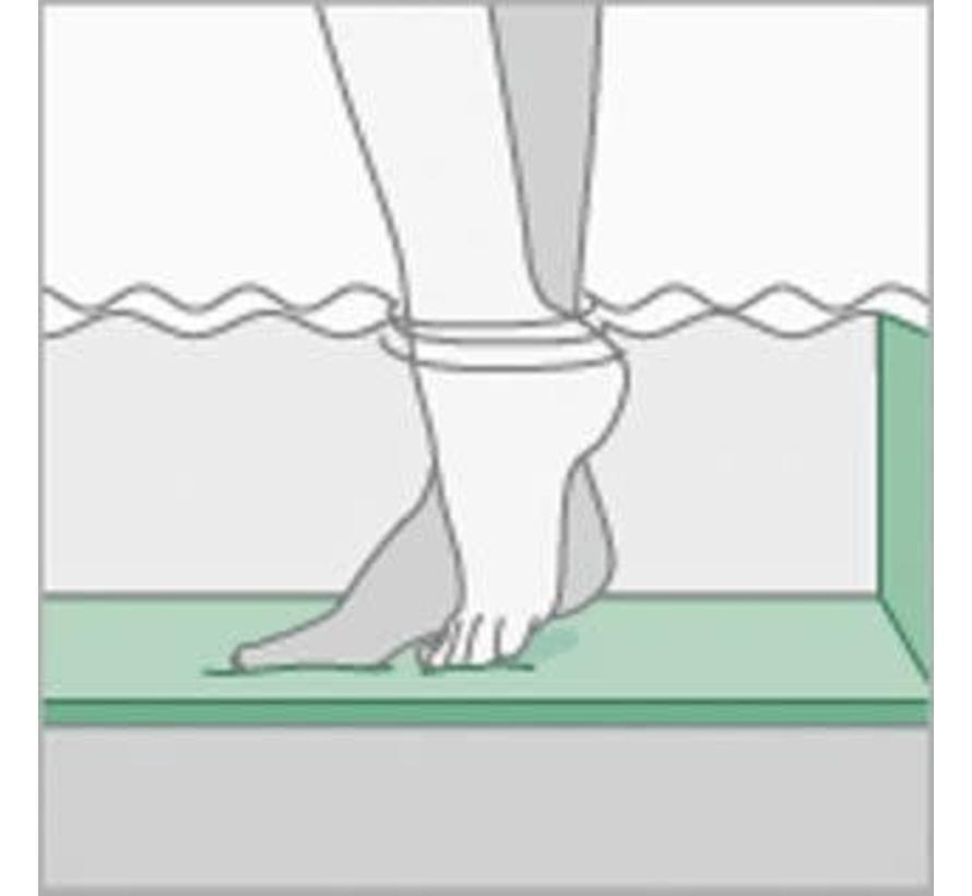 Zwembadisolatie speciaal behandeld dikte 12mm drukvast Rol van 75m2
