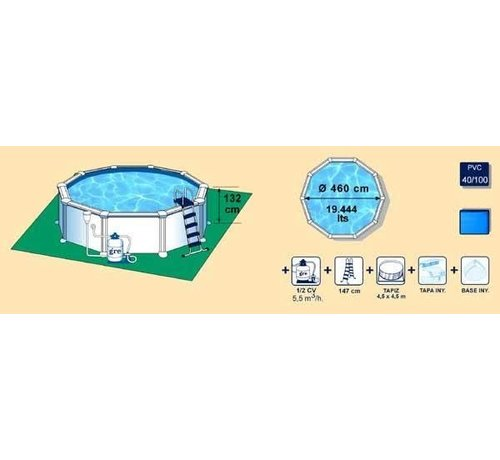 Zwembad Atlantis set rond 460