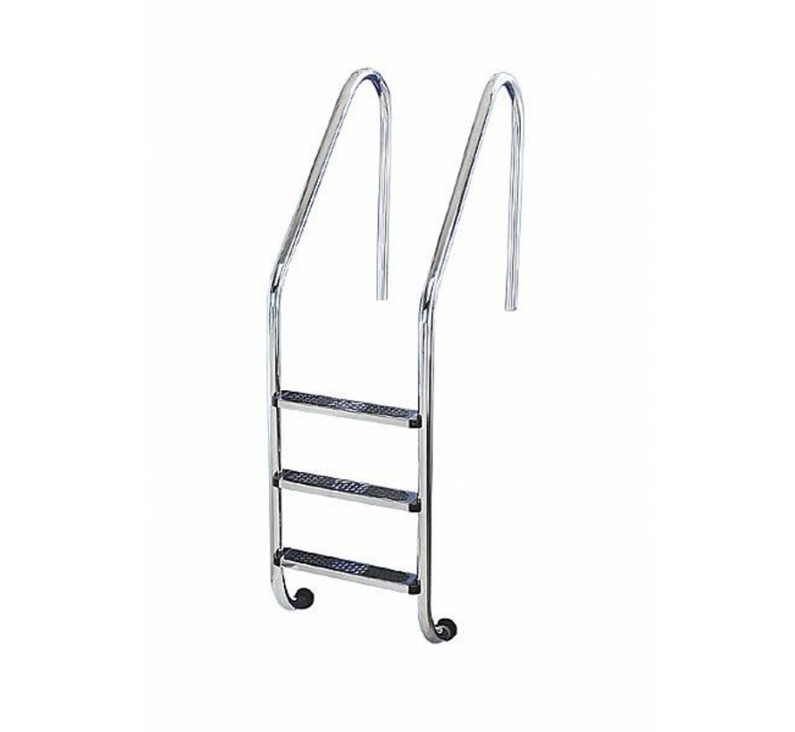 Ladder ingegr zwembad 120 cm diep 2 tred RVS304