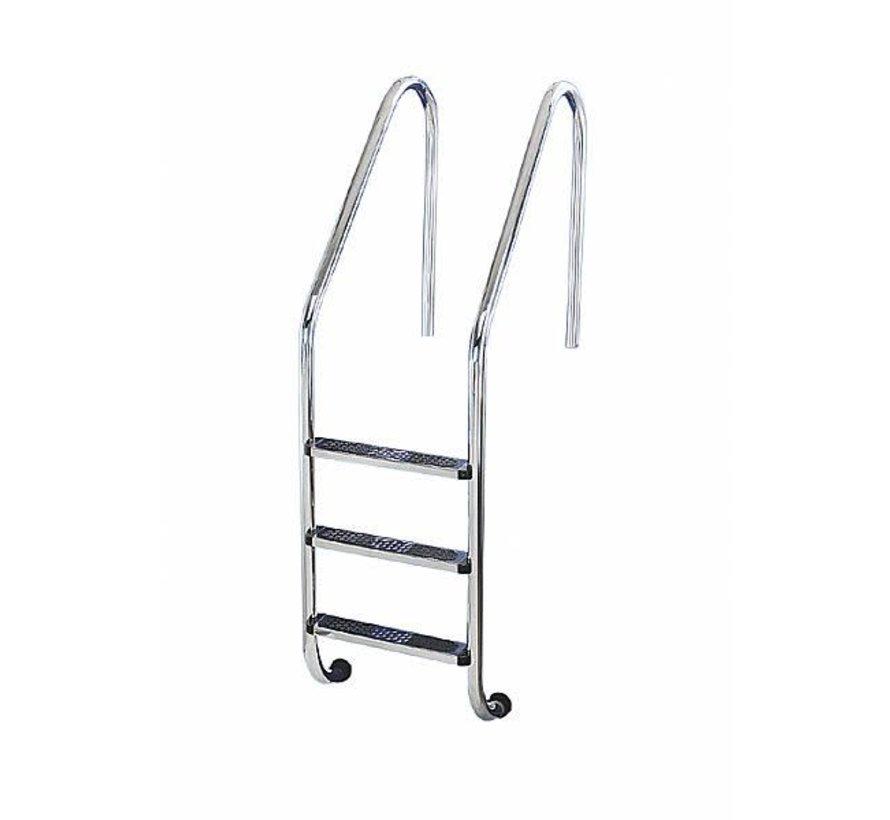 Ladder ingegr zwembad 150 cm diep 4 tred RVS304