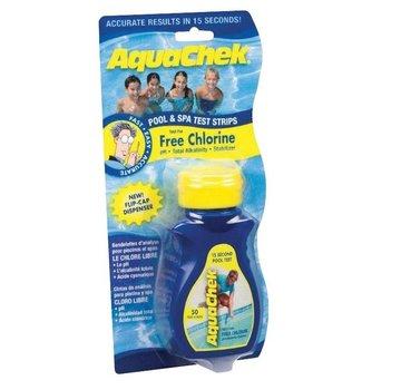 Aquacheck Aquachek Yellow 4-in-1 teststrips, individuele verpakking 1 flesje van 50 strips