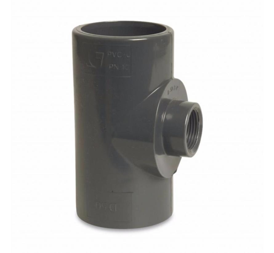 T-stuk 50 mm met 1x 1/2 inch binnendraad