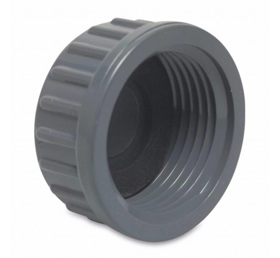 Schroefdop 11/2 inch binnendraad met rubber dichting
