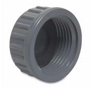 Schroefdop  1 1/4 inch binnendraad met rubber dichting