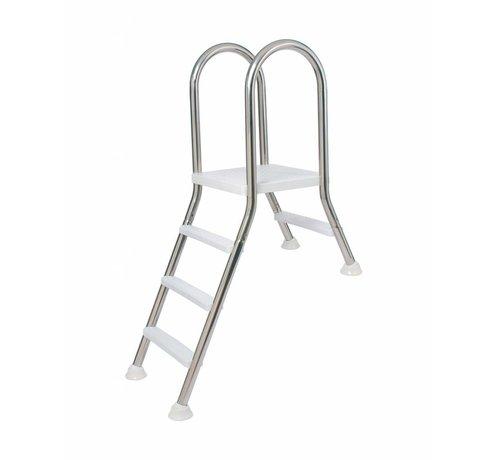 Flexinox Ladder voor half ingegraven zwembad 1 + 4 treden op aanvraag