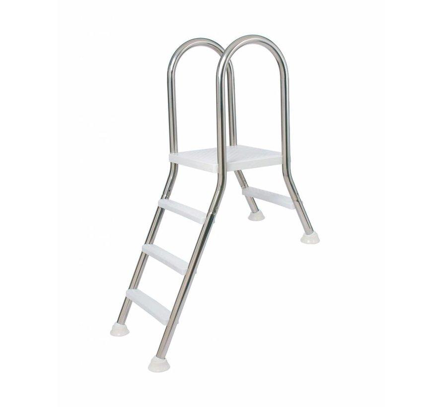 Ladder voor half ingegraven zwembad 1 + 4 treden op aanvraag