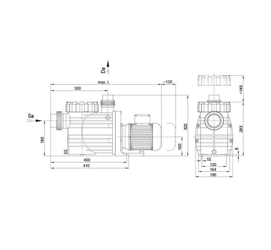 BADU Top S II/14, 3~, 0,65kW