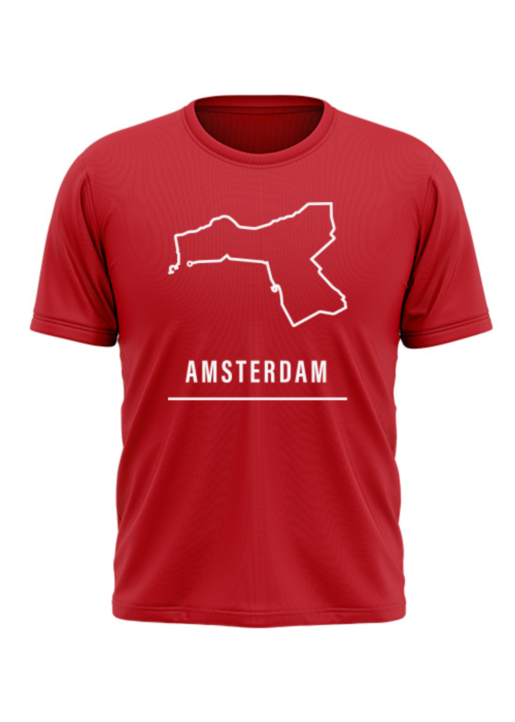 Rebel & Dutch Heren sportshirt Amsterdam halve marathon