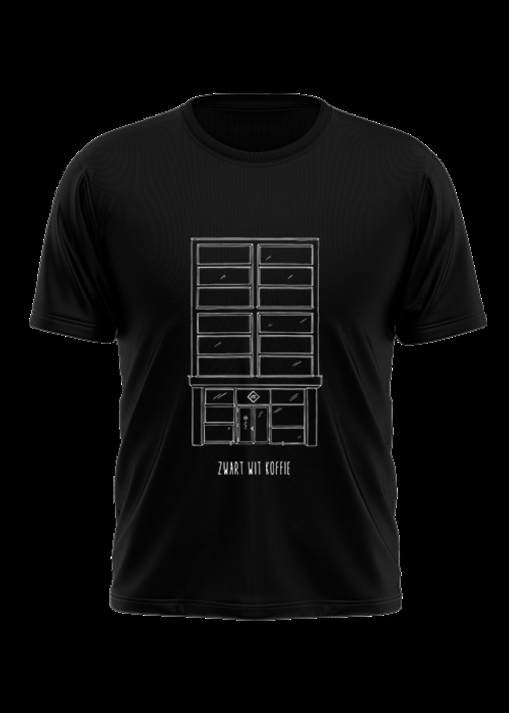 Rebel & Dutch ZwartWit Koffie T-shirt