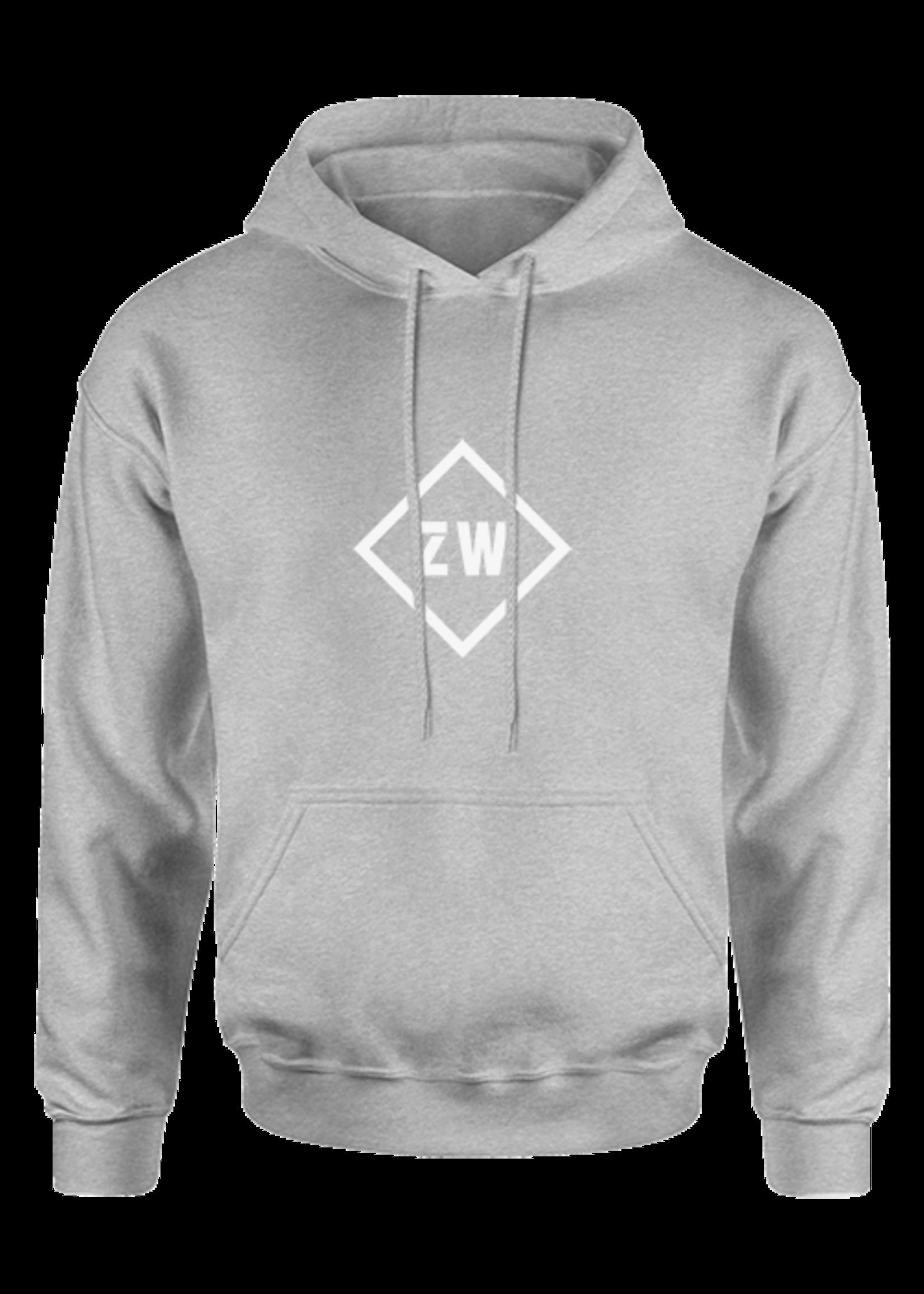 Rebel & Dutch ZwartWit hoodie grijs