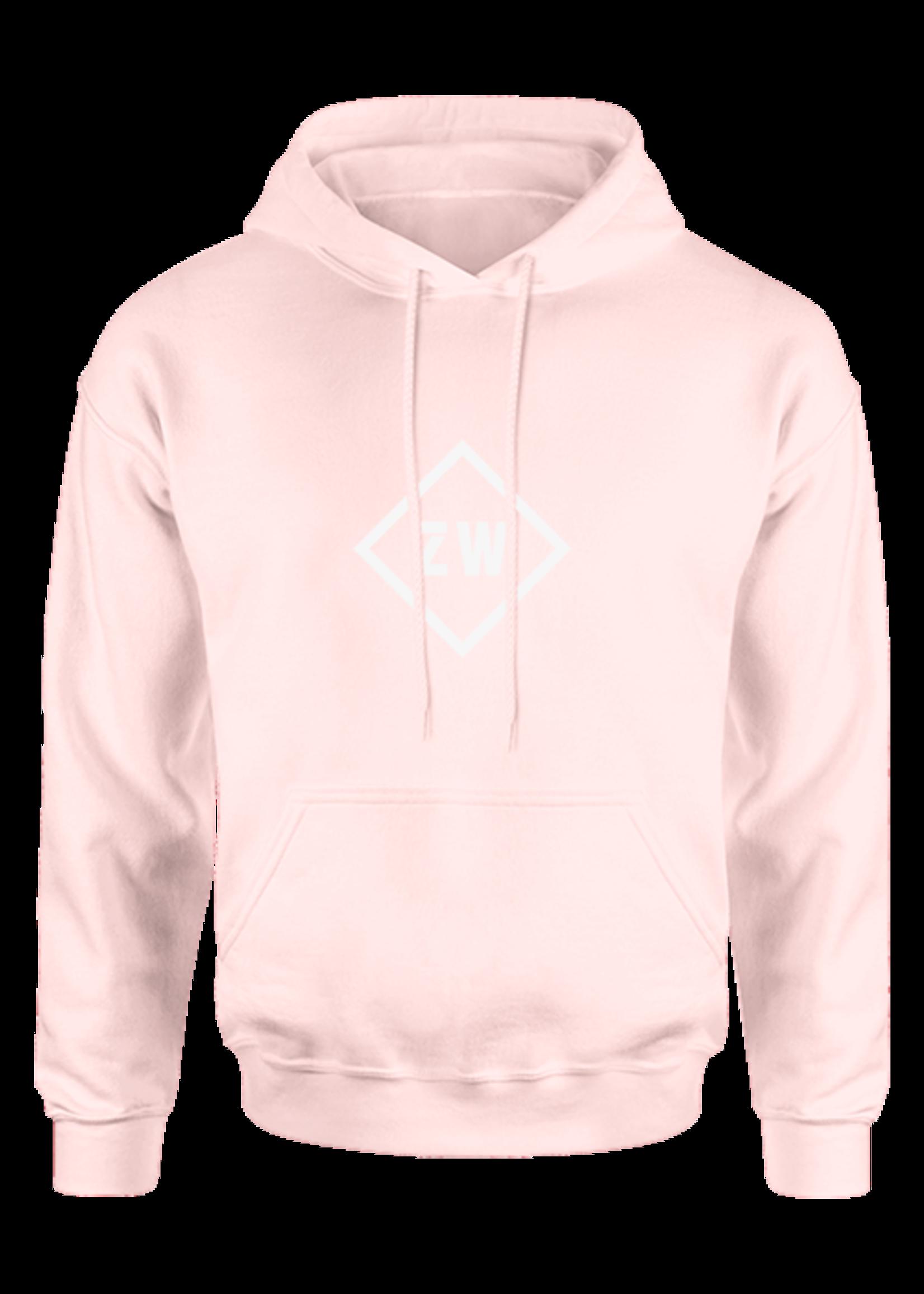 Rebel & Dutch ZwartWit hoody  pink white